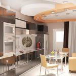 Интерьер кухни с диваном изображения