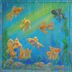 Картина талисман — значение символа рыб в фэн-шуй