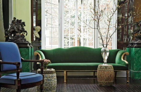 классический интерьер диван