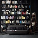 книжный шкаф черный
