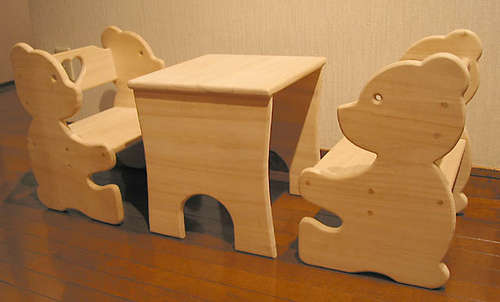 Комплект из столика и двух стульев