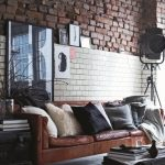 коричневый диван идеи