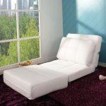 Кресло кровать без подлокотников белого цвета