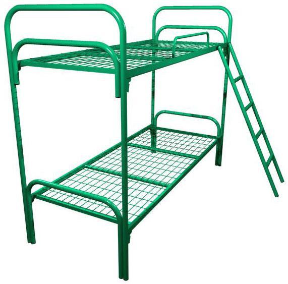 Кровать двухъярусная с лестницей и ограждение