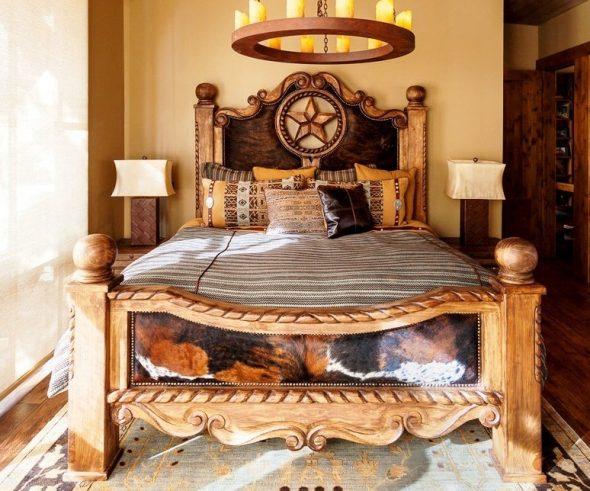 дизайн кровати из дерева