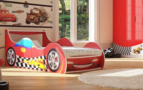 Кровать-машинка Форсаж