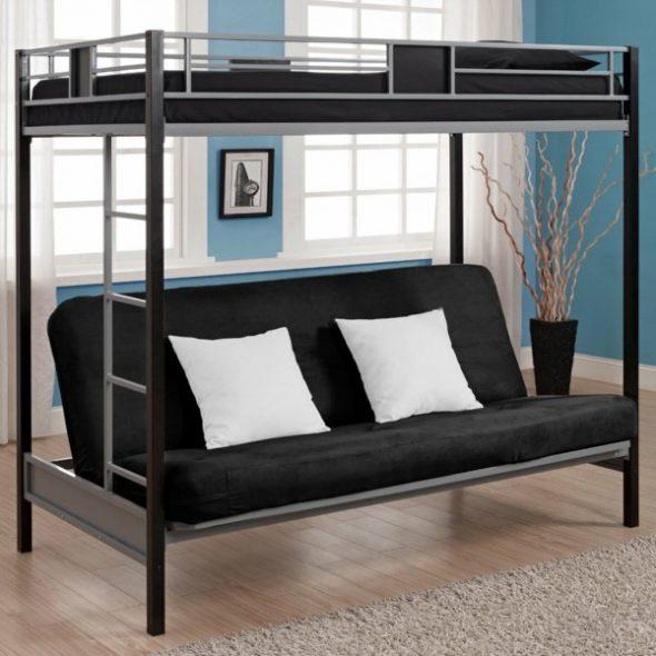 Кровать в черном цвете