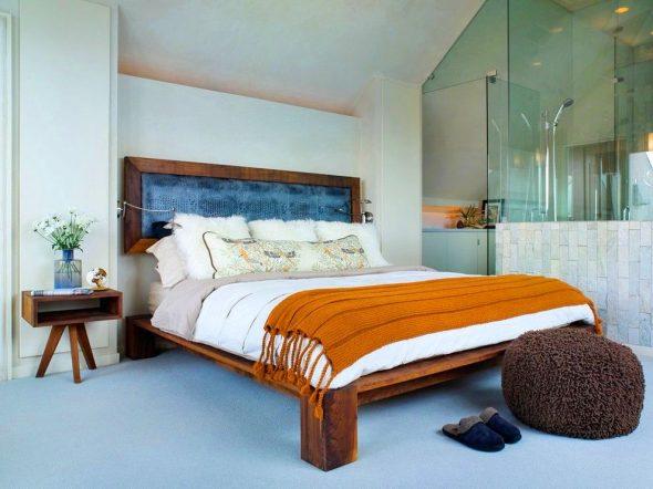 стильная кровать из дерева