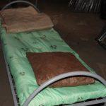Кровати металлические в основе сварная, жесткая сетка