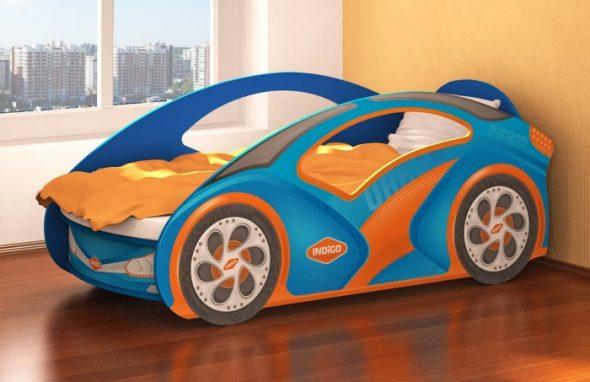 Кроватка-машинка Индиго