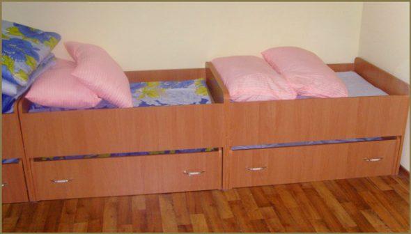 Кроватки для детского сада ассортимент