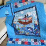 Лоскутные комплекты для детской комнаты в морском стиле
