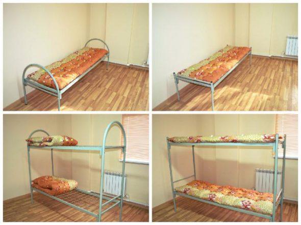 Металлические кровати для рабочих-виды