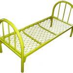 Металлические кровати для рабочих желтого цвета