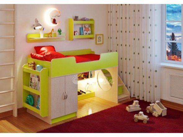 Очень хорошая идея для детской — двухъярусная кровать с матрасом