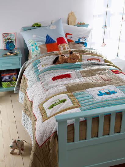 Покрывало - одеяло для кровати мальчика Машинки