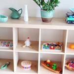 Расположение игрушек на низкой полке