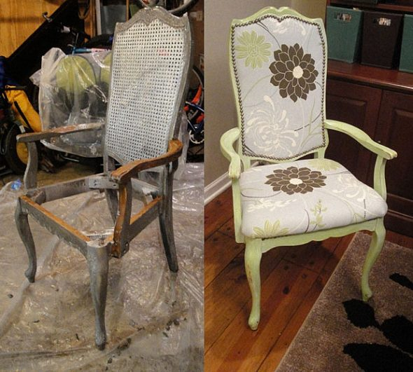Реставрация набивки старых стульев