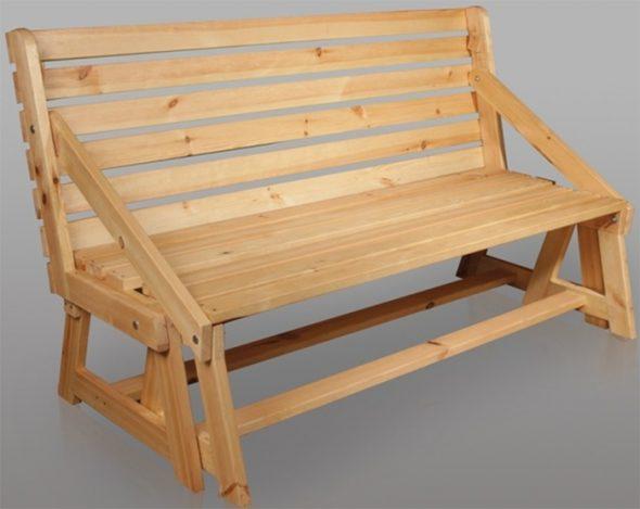 Скамейка-трансформер для дачи