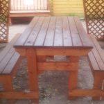 Стол-скамейка Трансформер фото