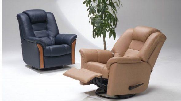 удобные кресла с подставкой для ног