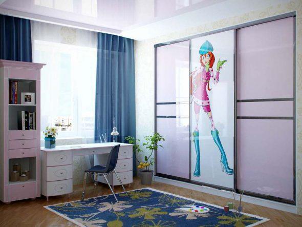 Встроенный шкаф в детскую комнату по индивидуальному проекту
