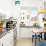 Зонирование кухни и гостиной в дизайне квартиры студии