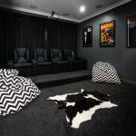 бескаркасная мебель темная