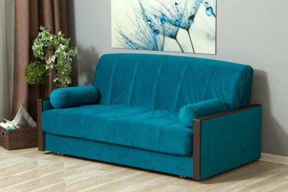 бирюзовый диван аккордеон