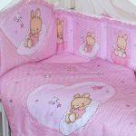 бортики для новорожденного розового цвета