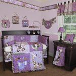 бортики в кроватку для новорожденных фиолетовые