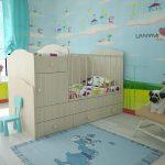 детская кровать комод