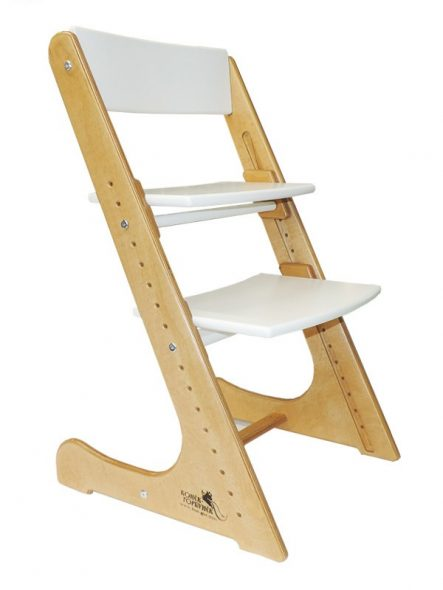 детский деревяный растущий стул-трансформер