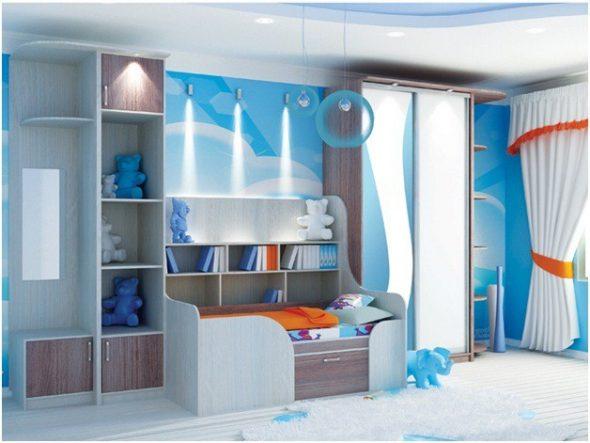 детский шкаф-купе с кроваткой