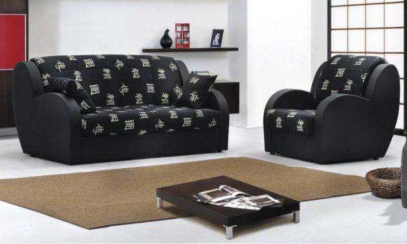 черный диван аккордеон