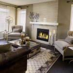 дизайн зала с коричневым дизайном