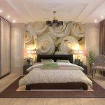 кровать в дизайне спальни