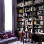 книжный шкаф с лестницей