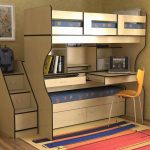 двухъярусная кровать стол