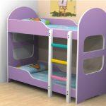 двухъярусная кровать фиолетовая