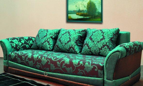 зеленый диван фото
