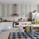 интерьер кухни столовой современно стильно и уютно