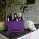 комод для косметики фиолетовый