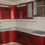 кухня красный гарнитур