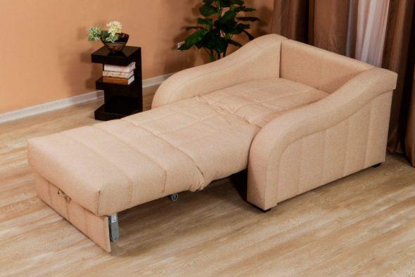кресло кровать бежевое