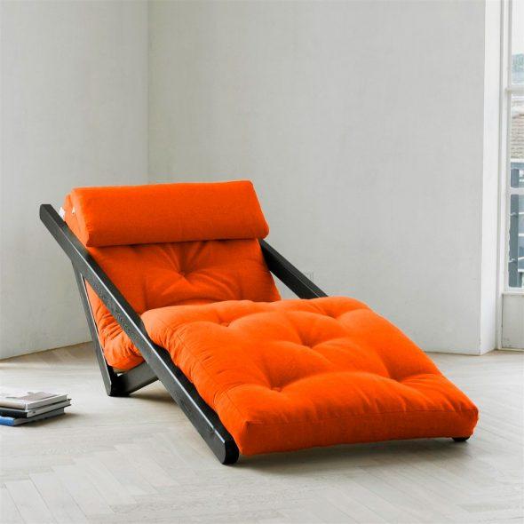 кресло кровать красное