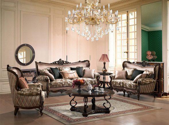 кресло с диваном в английском стиле