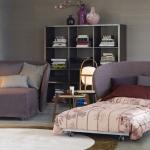 кресло кровать лиловое