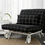 кресло кровать черное икеа