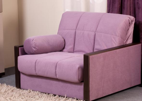 сиреневое кресло кровать